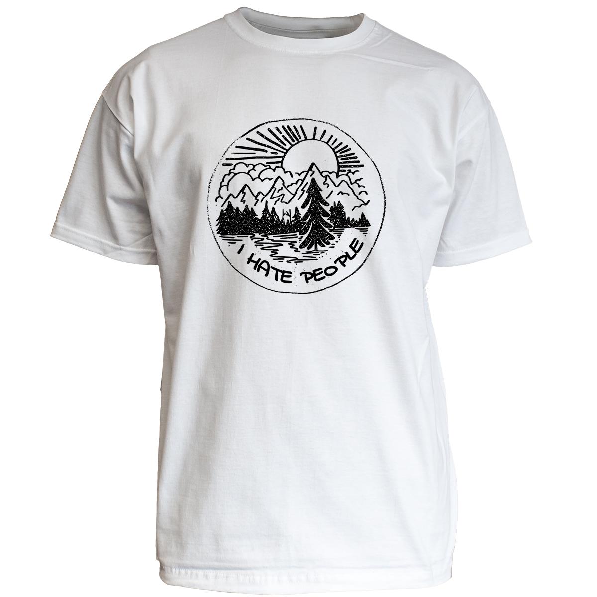 """Nukular T-Shirt Motiv /""""I hate People/"""" Spruch lustig Camping Menschen Natur Meme"""