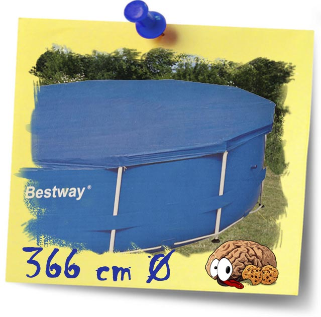 bestway abdeckplane f r 366cm frame pool poolabdeckung abdeckung plane blau neu ebay. Black Bedroom Furniture Sets. Home Design Ideas