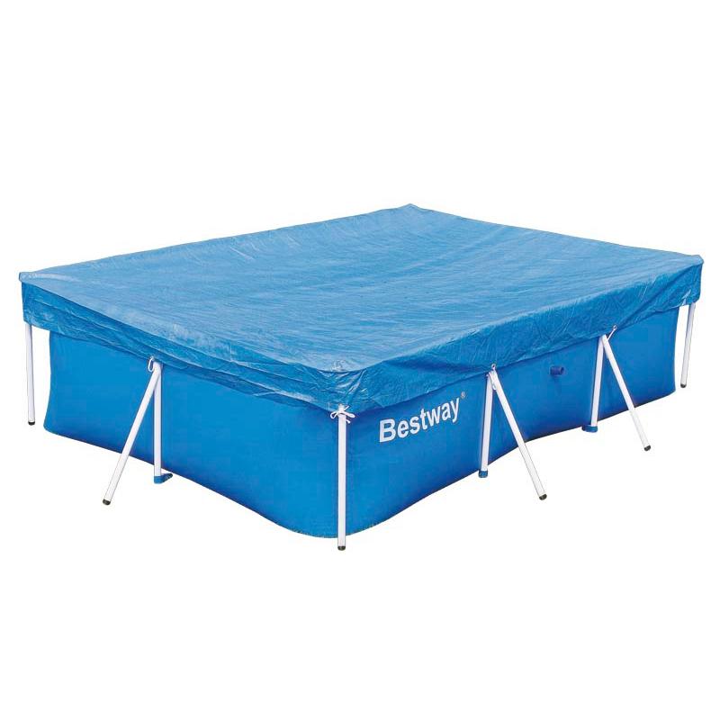 bestway abdeckplane f r 399x211cm frame pool abdeckung plane blau poolabdeckung ebay. Black Bedroom Furniture Sets. Home Design Ideas