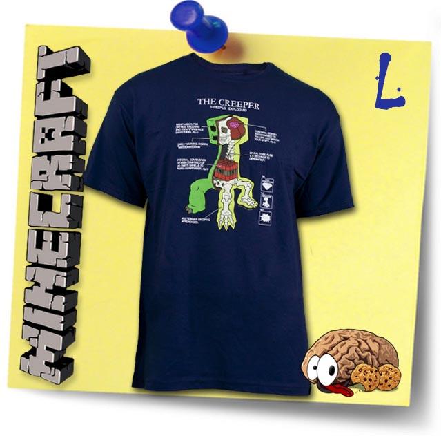 TShirt Minecraft Creeper Anatomy L Shirt Block Spiel Mine Craft - Minecraft block spiele