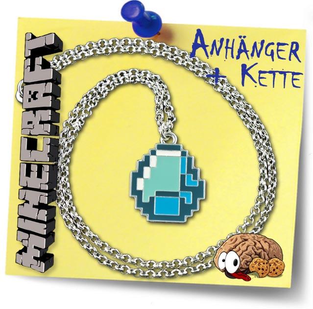 Minecraft Halskette Diamond Blau Anhänger Block Spiel Mine Craft - Minecraft block spiele