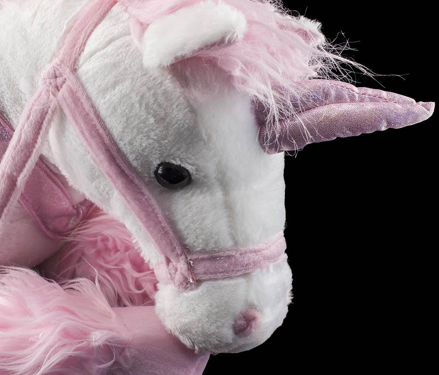 xxl 85cm einhorn liegend wei rosa flauschig stofftier pl sch pferd kuscheltier ebay. Black Bedroom Furniture Sets. Home Design Ideas