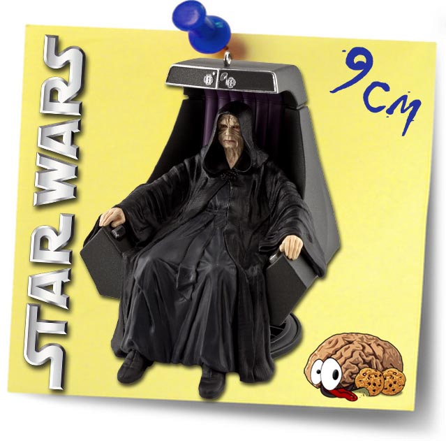 star wars imperator palpatine auf thron figur baumschmuck. Black Bedroom Furniture Sets. Home Design Ideas
