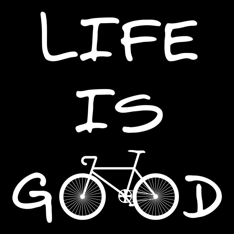 """Nukular Turnbeutel /""""Life is good"""" Rennrad Fahrrad Bike MTB Mountainbike Rad"""